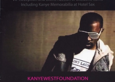 Kanye West Foundation program book from fundraiser