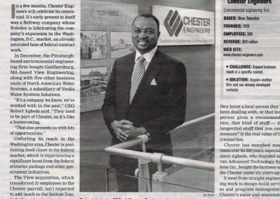 Chester Engineers newspaper article